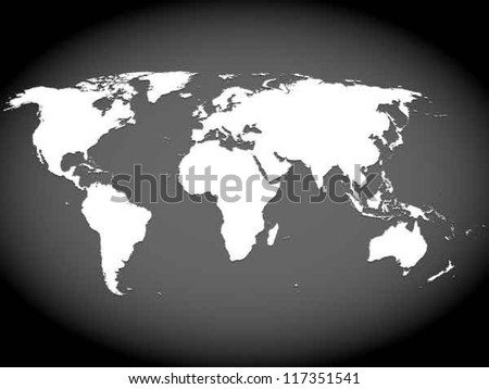 Free vector world map white 3d download free vector art stock very high detailed map of the world with slight 3 d appearance placed on gumiabroncs Gallery