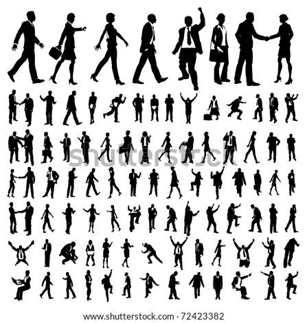 Very many high quality business people silhouettes Stock photo ©