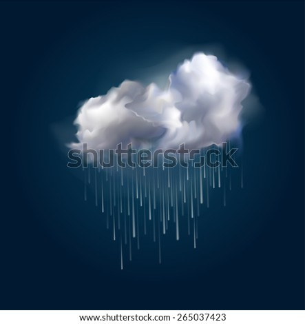 very realistic vector cloud and