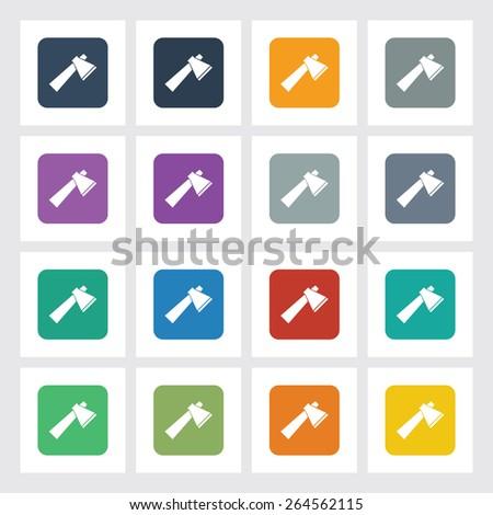 very useful flat icon of axe