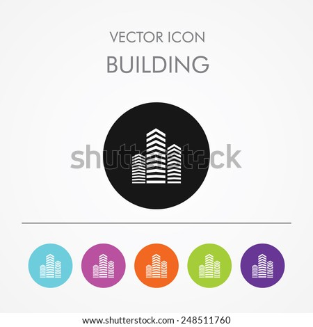 very useful icon of building on ...