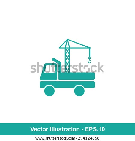 Very Useful Icon Of Crane. Eps-10.