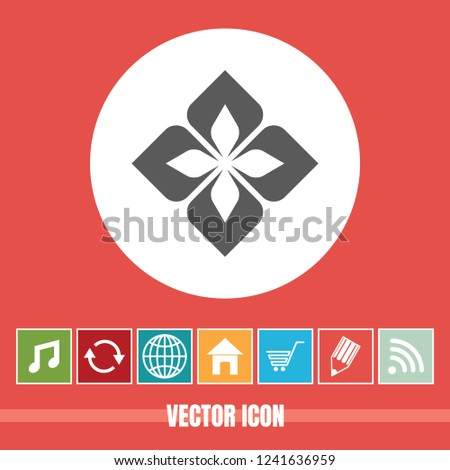 very Useful Vector Icon Of Floral Design Element with Bonus Icons Very Useful For Mobile App, Software & Web