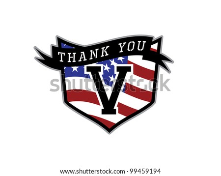 Veteran's Day Thank you Shield.