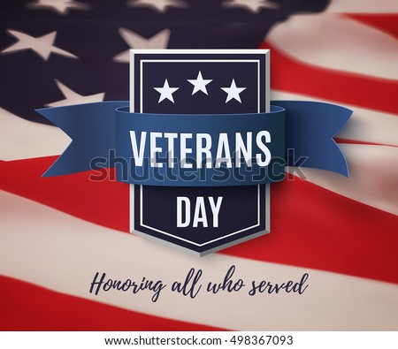 American Flag Ribbons Veterans Day Download Free Vector Art Stock