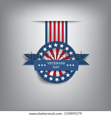 Veterans day badge eps10 vector illustration for posters, flyers, decoration etc.