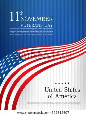 Veterans day. Brochure design templates