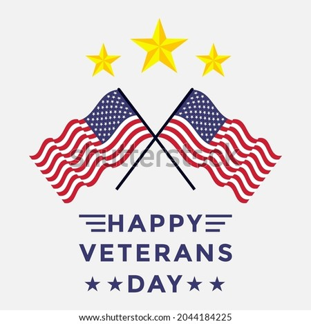 veterans day design with