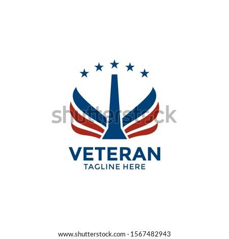 veterans day emblems. USA culture. Design elements for logo, label, emblem, sign. Vector illustration