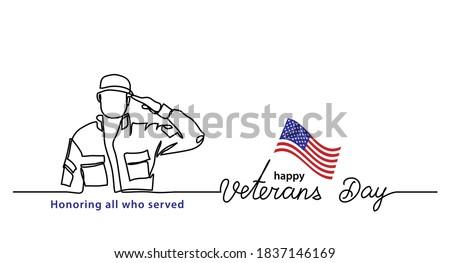 veterans day minimalist vector