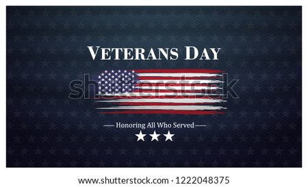 veterans day, November 11, honoring all who served, posters, modern design vector illustration Сток-фото ©