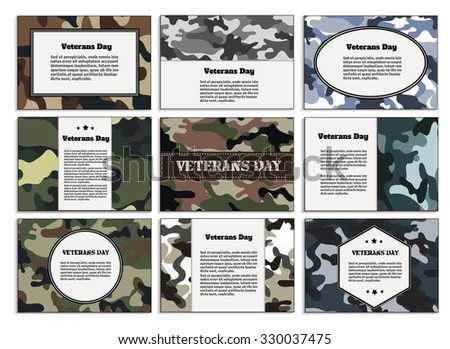 veterans day poster  brochure