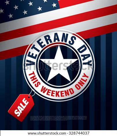 Veterans day. Sale. Vector banner