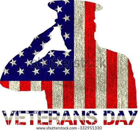 veterans day sign illustration