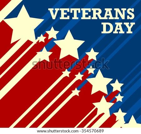 Veterans Day. Usa flag on background