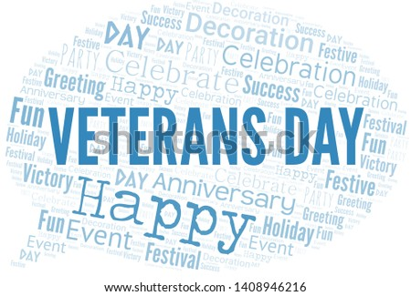 Veterans Day Word Cloud. Word cloud Made With Text.