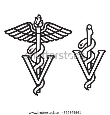 Veterinarian Caduceus Symbol