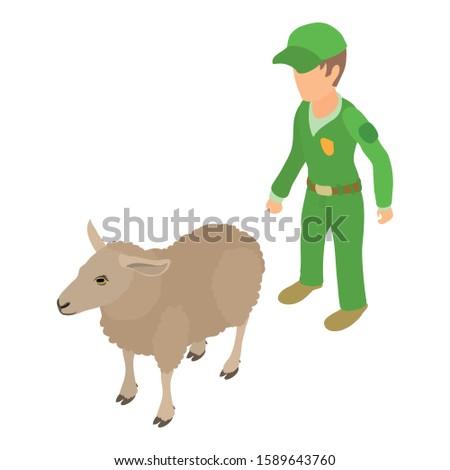 Veterinary care icon. Isometric illustration of veterinary care vector icon for web