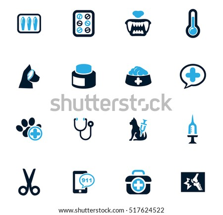 Veterinary clinic icon set for web sites and user interface