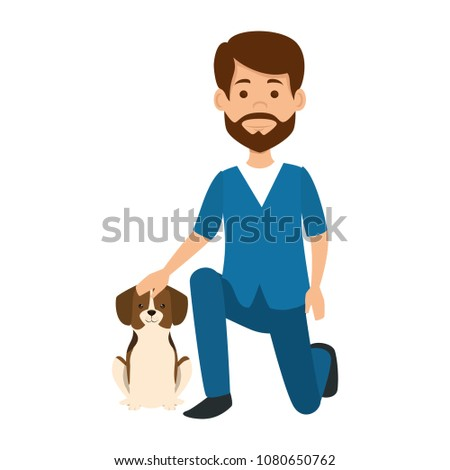 veterinary doctor with dog avatar character