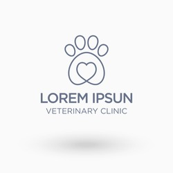 Veterinary  Logo. Isolate vector illustration.