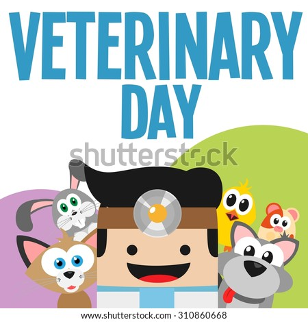 veterinary surrounded by animals #310860668