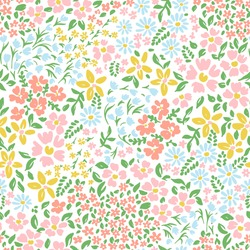 Vetor seamless floral colorful pattern on a white background