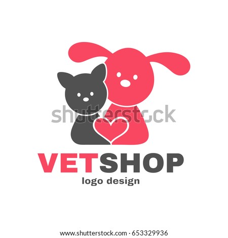 vetshop dog and cat logo design