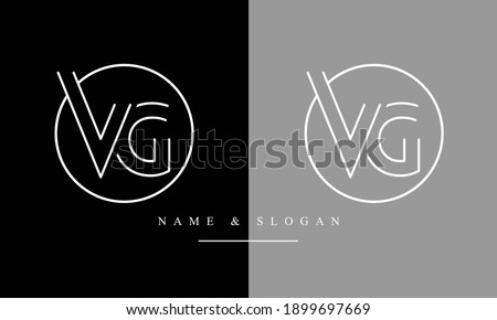 VG GV abstract vector logo monogram template Stok fotoğraf ©