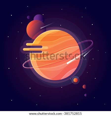 vibrant colorful solar system