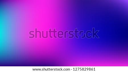 Vibrant Dreamy Purple Blue Gradient Vector Background. Color Overlay, Sunrise, Sunset, Sky, Water Neon Design Element. Dreamy Unfocussed Holograph Luxury Texture. Minimal Digital Fluid Tech Gradient