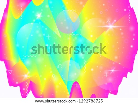 Vibrant gradients on rainbow background. Holographic dynamic fluid. Cosmos hologram. Design template for cover, web app and annual report. Vibrant vibrant gradients.
