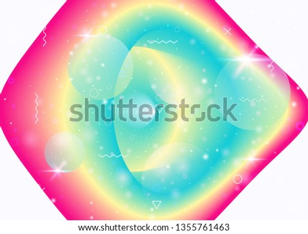 Vibrant gradients on rainbow background. Holographic dynamic fluid. Cosmos hologram. Design template for wallpaper, cover and presentation. Liquid vibrant gradients.