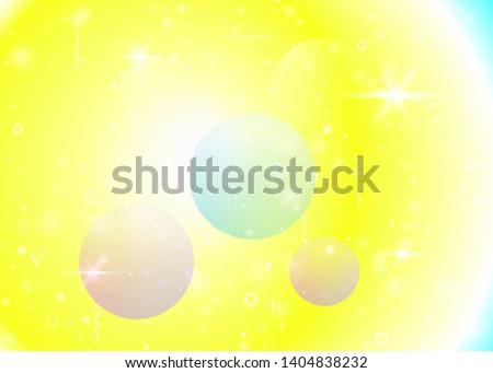 Vibrant gradients on rainbow background. Holographic dynamic fluid. Cosmos hologram. Design template for banner, flyer and placard. Spectrum vibrant gradients.