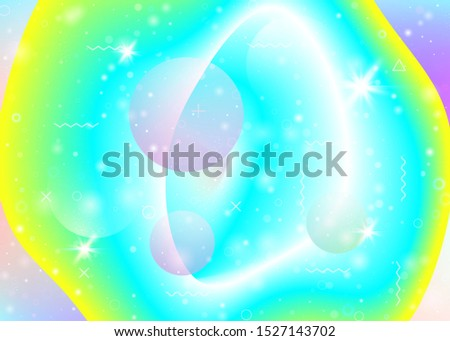 Vibrant gradients on rainbow background. Holographic dynamic fluid. Cosmos hologram. Design template for book, mobile screen and mobile screen. Neon vibrant gradients.