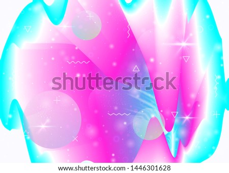 Vibrant gradients on rainbow background. Holographic dynamic fluid. Cosmos hologram. Design layout for placard, cover and cover. Kawaii vibrant gradients.