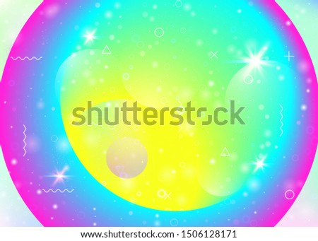 Vibrant gradients on rainbow background. Holographic dynamic fluid. Cosmos hologram. Graphic template for mobile interface, presentation and book. Plastic vibrant gradients.