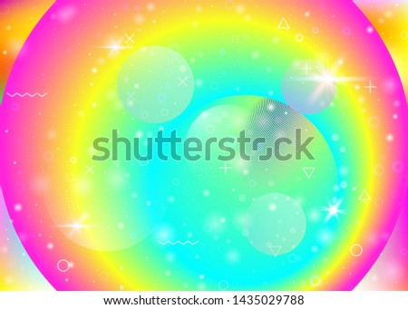 Vibrant gradients on rainbow background. Holographic dynamic fluid. Cosmos hologram. Graphic layout for mobile interface, mobile screen and banner. Spectrum vibrant gradients.