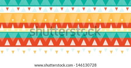 Vibrant ikat stripes horizontal seamless pattern background - stock vector