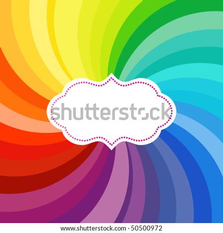 Vibrant swirl of colors with label (use with or without)