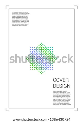 Vibrant Vector Geometric Cover Design with Gradient and Abstract Lines and Figures for your Business. Leaflet Design with Hologram, Gradient Effect for Dj Party.
