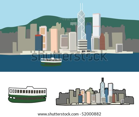 Victoria Harbour view of Hong Kong