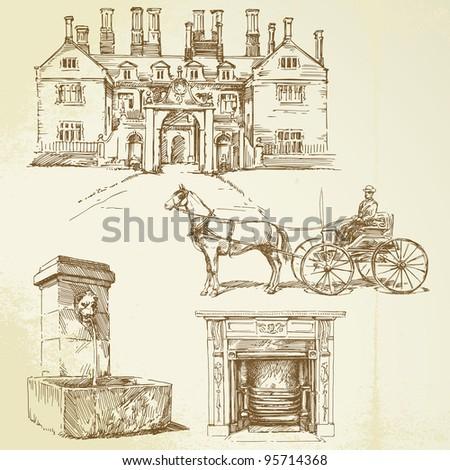 victorian england   hand drawn...