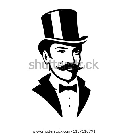 Mustache Monocle Cigar Themed Baby Grow Top Hat OLD ENGLISH GENTLEMAN
