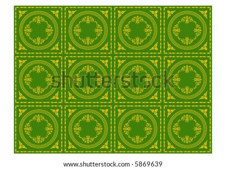 victorian gothic decorative wallpaper pattern
