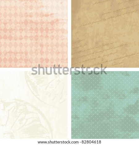 Victorian grunge backgrounds (eps10); jpg version also available