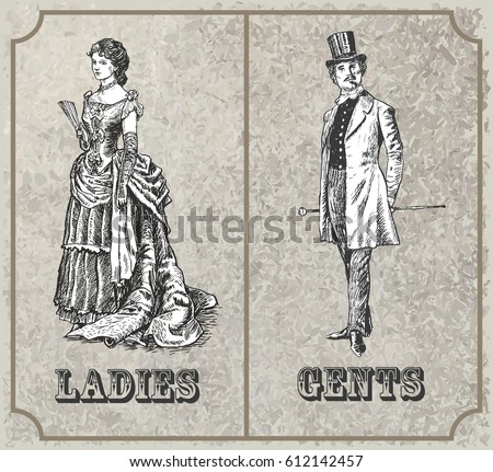victorian lady and gentleman....