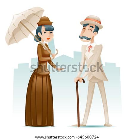 victorian lady gentleman...
