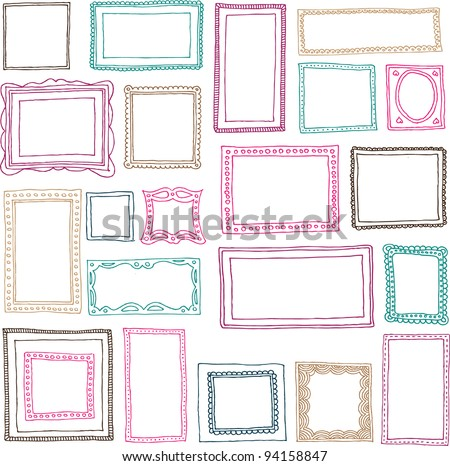 Victorian ornaments photo frames in vector - stock vector