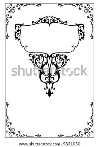 victorian ornate scroll design elements